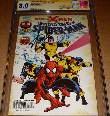 Untold Tales of Spider-Man #21 CGC SS SIGNED Stan Lee Marvel 1997 X-Men guest