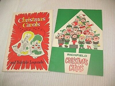 LOT OF 2 VINTAGE Richfield Oil CHRISTMAS CAROL SONG BOOKS BOOKLETS 1950's