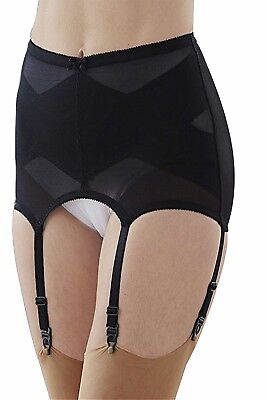 a97354f27 SUMMER SEXY GARTER 6 Strap Black PVC suspender Belt with T-back and ...