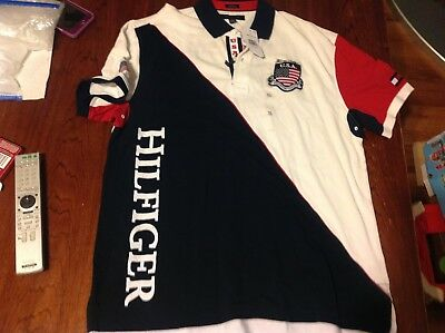 82ceea336 Vintage Tommy Hilfiger USA 85 Custom Fit XL Polo Shirt Mens Colorblock NWT