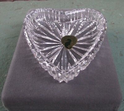Waterford Cut Crystal Heart Shaped Pin Dish Boxed Unused