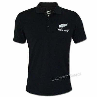 All Blacks Essentials Polo Shirt - Sizes S - 3XL  **SALE PRICE**