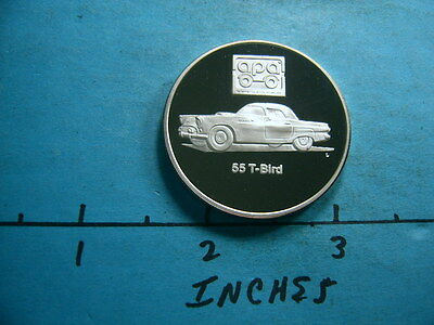 1955 Ford T-Bird Car Classic Vintage 999 Silver Proof Coin Rare & Sharp
