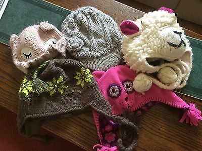 Nice Selection Of Little Girls Hats. All In Very Good Condition