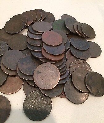 1796 to 1807 DRAPED BUST LARGE CENT TYPE COIN no date