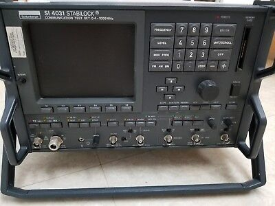 Wavetek Schlumberger 4031 radio communication analyer service monitor for parts