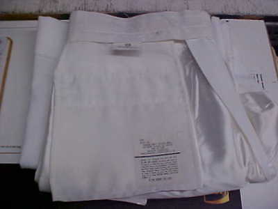USN Navy Enlisted Male Dress White Trousers Bell Bottoms 35R FREE SHIPPING #w141