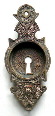 Antique Aesthetic Hardware CAST BRASS or BRONZE POCKET DOOR PULL -  Mortise Lock