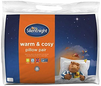 Warm And Cosy Pillow Pair, Microfibre, White, Twin