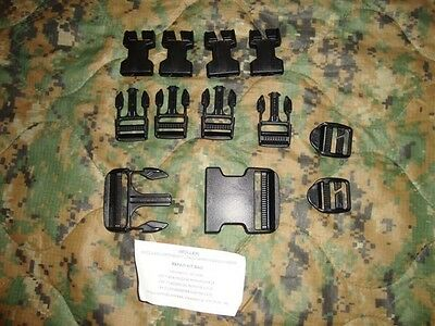 USMC Army Military Surplus MOLLE Buckle Backpack Pouch REPAIR KIT Bag BLACK