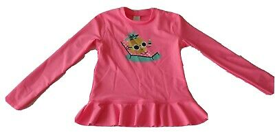Girls size  7 Pink Long sleeve Rash vest Sparkly Pineapple Target  NEW   *EP*