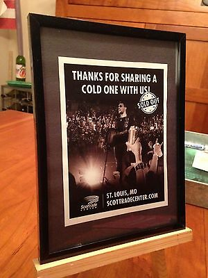 "Small 6X8 Framed Eric Church ""live In St. Louis 2017"" Concert Tour Promo Ad"