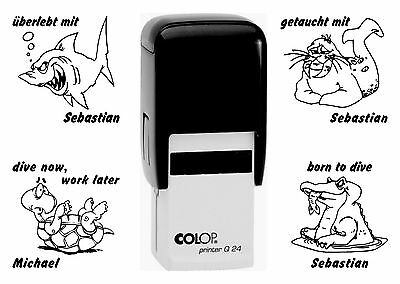 Taucherstempel Logbuchstempel Colop Printer Q 24, 58 Motive