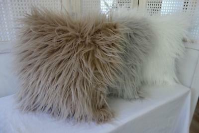 Softest Simulated Mongolian Lambswool Cushion Cover 45cm