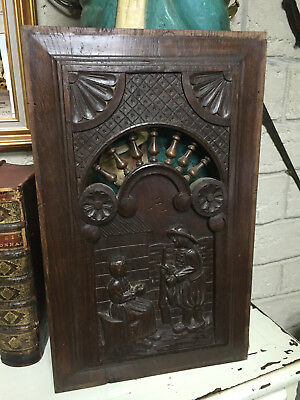 27518 French Antique Carved Wood Archtectural Panel Brittany 1880s