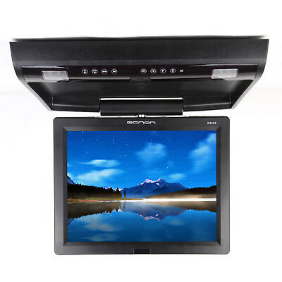 """15"""" Digital Car Flip Down Monitor with DVD Player Roof Mounted Drop Down Screen"""