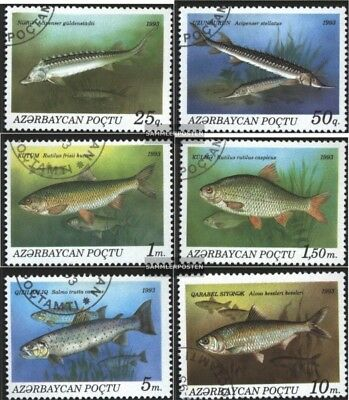 Aserbaidschan 98-103 (complete issue) used 1993 Fish