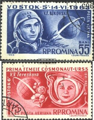 Romania 2171-2172 (complete issue) used 1963 Spaceships Vostok