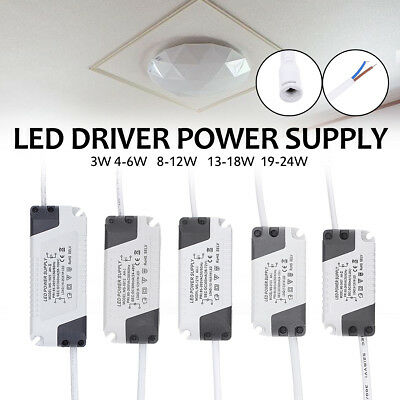 3-24W Dimmable Panel LED Light Driver Electronic Transformer Power Supply 300mA