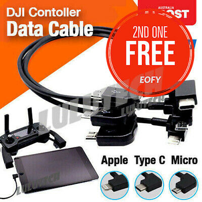 90° Micro USB Cable Type C OTG 30cm for DJI Spark Mavic Pro iPad iPhone Android
