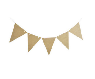 Kaisercraft - Unfinished MDF Wood Wooden Pennant Banner