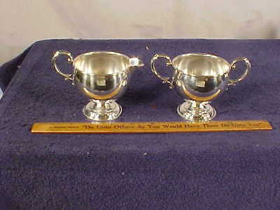 """STERLING Silver  """"HAMILTON"""" CREAM & SUGAR w/Weighted Bases"""