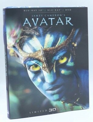 Avatar 3D (Blu-ray 3D/Blu-ray+DVD, 2016; 2-Disc Limited Ed.) NEW w/ Slipcover