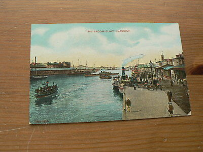Old Postcard, The Broomielaw, Glasgow, Boats, River