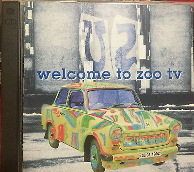 U2 Welcome To Zoo TV 2 CD Miami 3/1/92 Original Silver Pressing