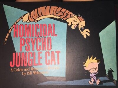 CAT Calvin and Hobbes: Homicidal Psycho Jungle Cat hardback Bill Watterson HC