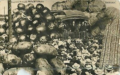1908 President William H Taft Exaggeration in IOWA Real Photo Postcard/RPPC