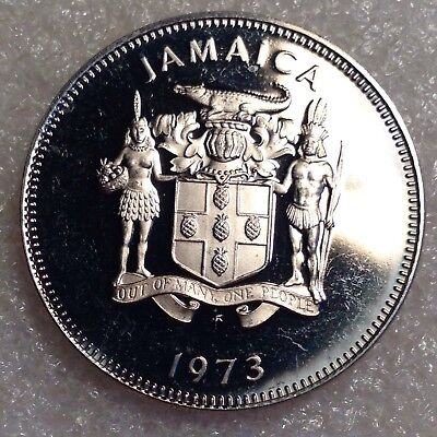 Jamaica 20 Cents 1973 Larger PROOF Coin!