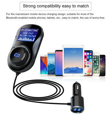 Bluetooth Music Audio Car Radios Stereo FM Transmitter for iPhone 8 X LG V30 HTC