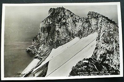"1950s RPPC Water Catchments Eastern Side of Rock of Gibraltar, ""REX"" Tobacconist"