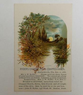 Ryders Chapine Cure Skin Medicine Treatment Antique Victorian Bufford Trade Card