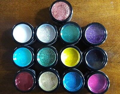 Wolfe Brothers Art & Fx Set Of 13 Glitters For Makeup/facepaint