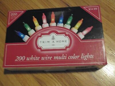 Trim A Home 50 Count LED M8 Multi Color Lights 70/% Energy Savings 10.7FT L New