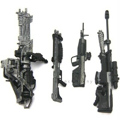 Lot of 4pcs Marksman Sniper Rifle Machine Gun for  6'' Turret Halo Figure *Rare