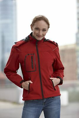 JN1001 JAMES&NICHOLSON Damen Winter Softshelljacke mit Kapuze warm winddicht 30°