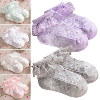 New Pretty Toddler Baby Kids Girl Cotton Lace Low Ankle Socks 0 Month to 8 years