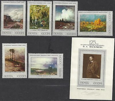 1975 Russia set of 7 125th Anniversary of Birth of F. A. VASILEV series MNH