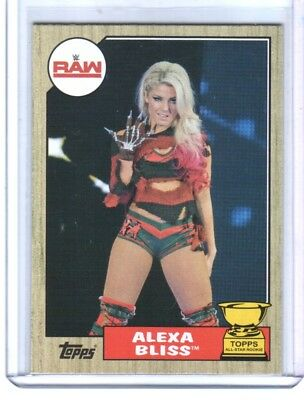 Alexa Bliss Moves To Raw Challenging Bayley WWE Topps Now 2017 Card #85 123cc