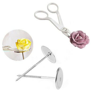 3Pcs/set Piping Flower Scissors+Nail Icing Bake Cake Decor Cupcake Pastry Tools