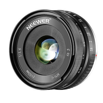 Neewer 32mm F/1.6 Manual Focus Prime Lens Sharp High Aperture for Sony NEX 3 5 6