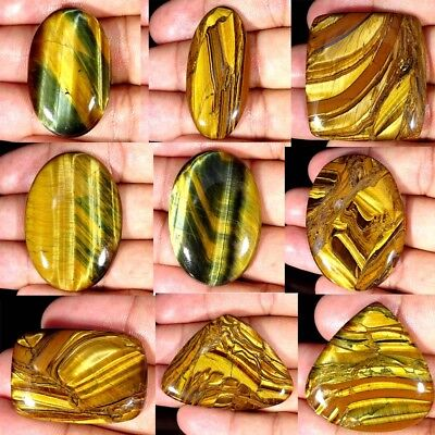 Natural Designer Golden Tiger Eye Oval,Pear,Cushion shape Loose Gemstone