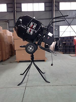 New Large Professional 140 Litres Concrete Cement Mixer 240V  Portable Stand