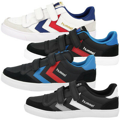huge selection of 5c46a 8964b HUMMEL SLIMMER STADIL Junior Leather Low Cut Sneaker Freizeit Schuhe 163-675