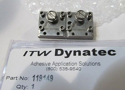 New Itw Dynatec  Industrial Ufd Line Hot Melt Glue Double Spray Nozzle 119149