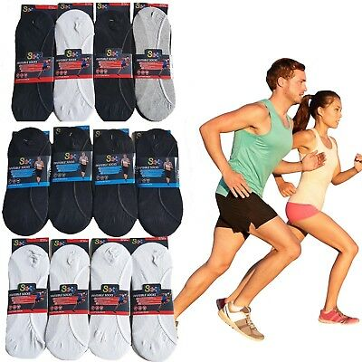 Soxy® 12 Pairs Men's Ladies Cotton Rich Invisible Trainer Liner No Show Socks
