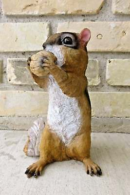 Chipmunk Standing Nut in Mouth New 8.5 in. Resin Countryside Animal Statue
